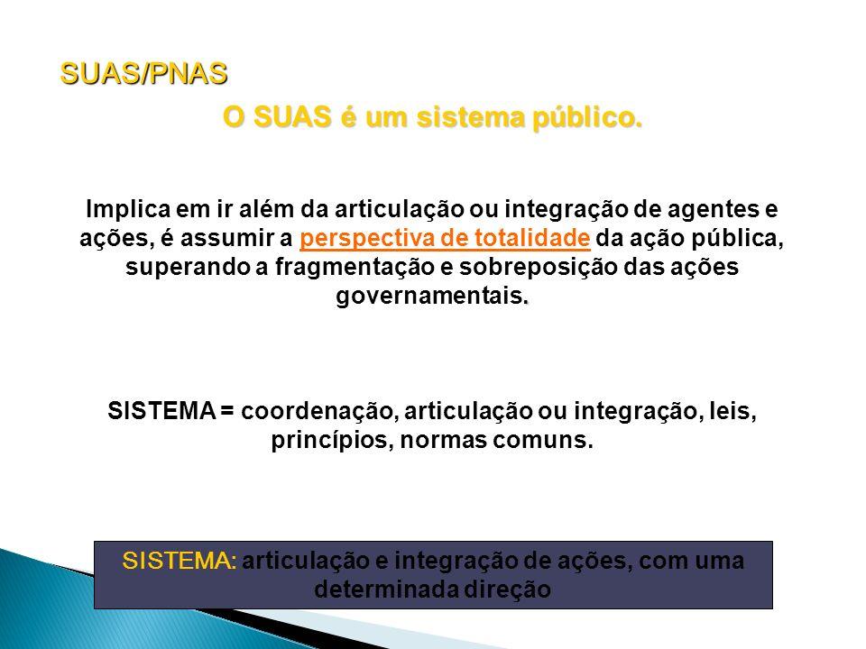 O SUAS é um sistema público.
