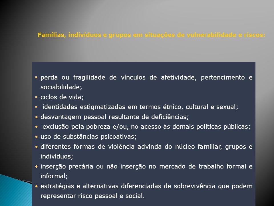 identidades estigmatizadas em termos étnico, cultural e sexual;
