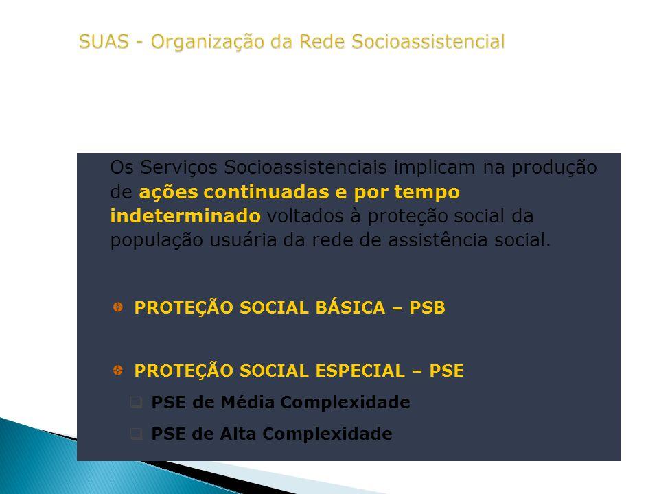 SUAS - Organização da Rede Socioassistencial