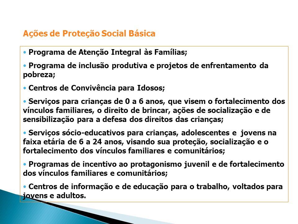 Ações de Proteção Social Básica