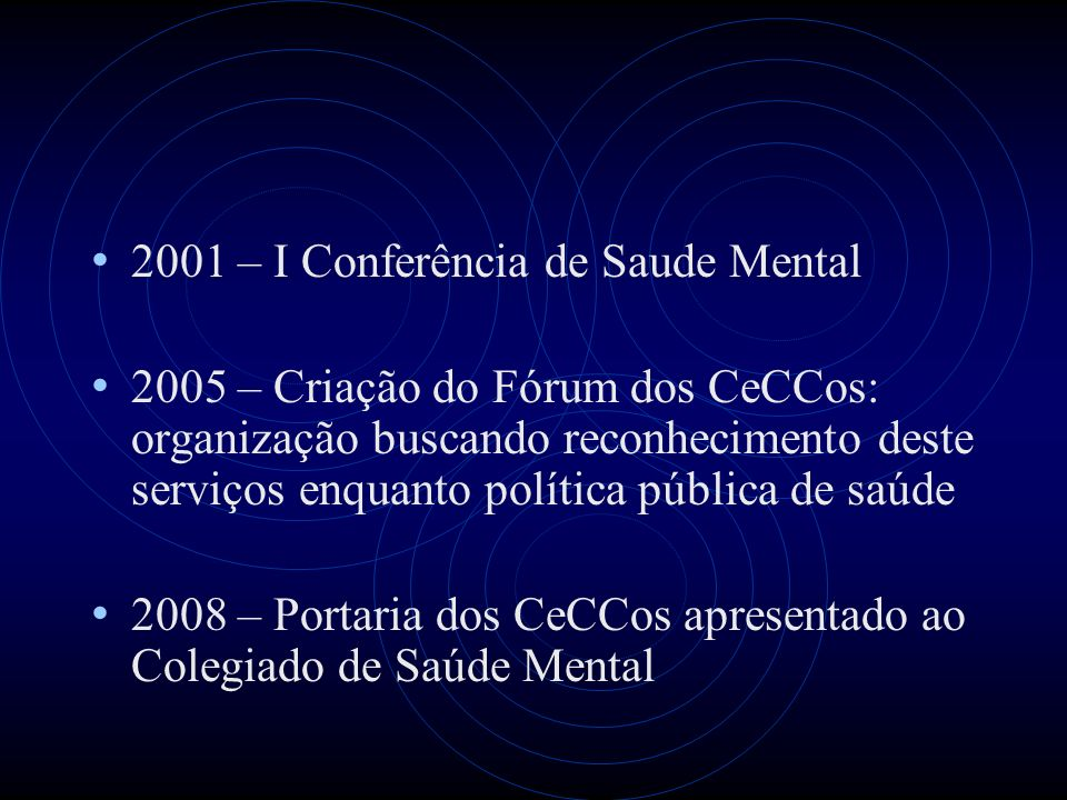 2001 – I Conferência de Saude Mental