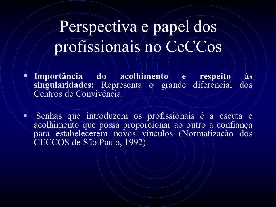 Perspectiva e papel dos profissionais no CeCCos