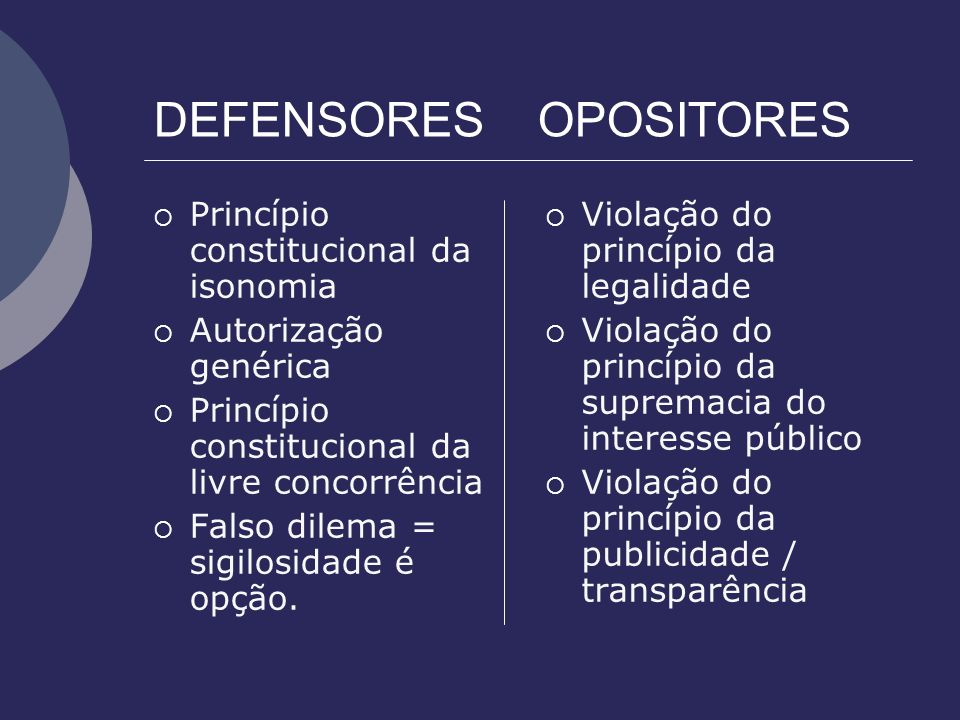 DEFENSORES OPOSITORES