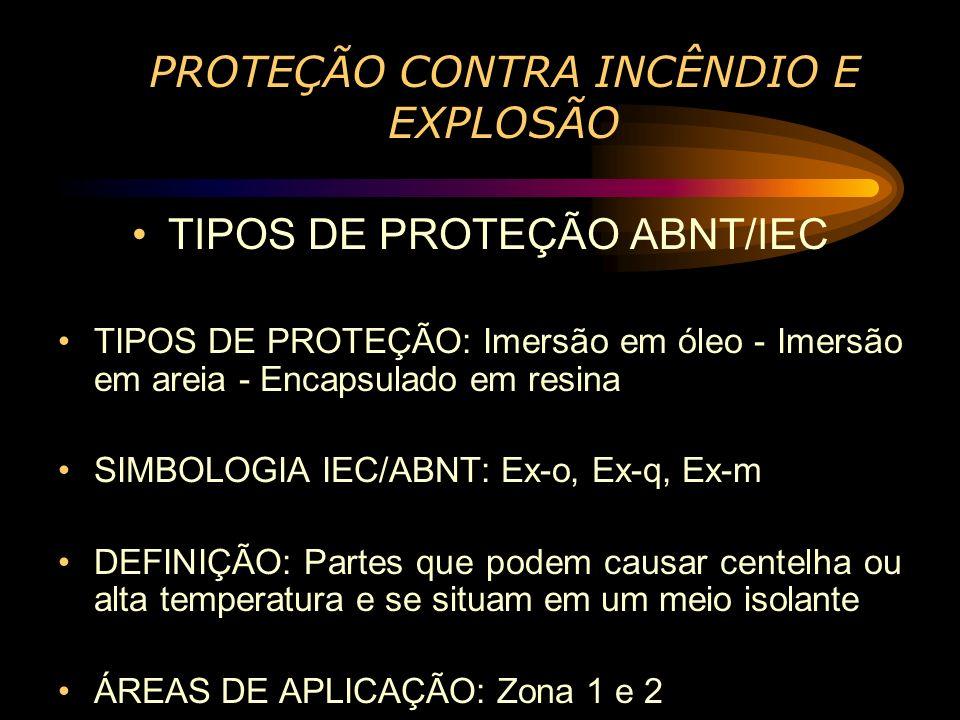 PROTEÇÃO CONTRA INCÊNDIO E EXPLOSÃO