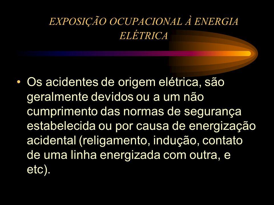 EXPOSIÇÃO OCUPACIONAL À ENERGIA ELÉTRICA