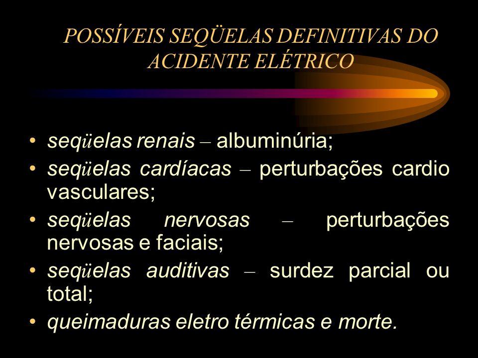 POSSÍVEIS SEQÜELAS DEFINITIVAS DO ACIDENTE ELÉTRICO