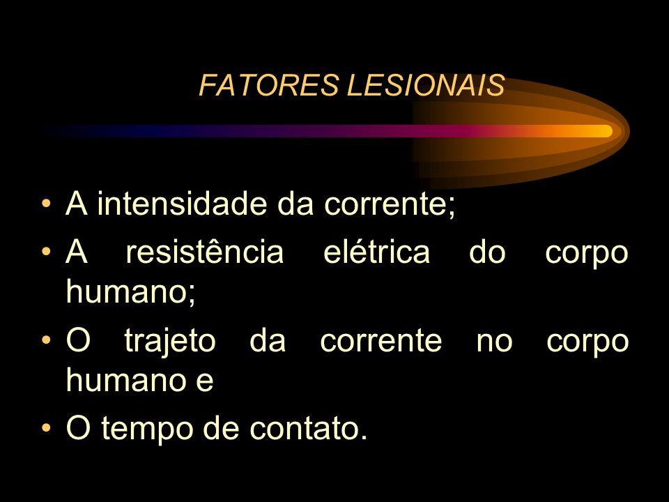 A intensidade da corrente; A resistência elétrica do corpo humano;