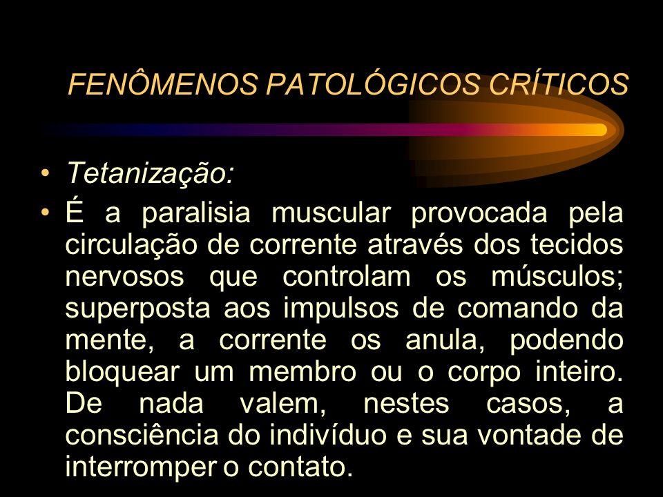 FENÔMENOS PATOLÓGICOS CRÍTICOS