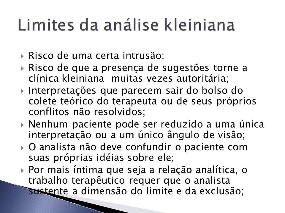 Limites da análise kleiniana
