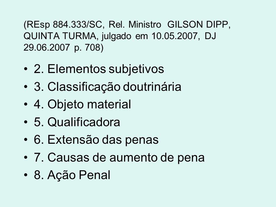 3. Classificação doutrinária 4. Objeto material 5. Qualificadora