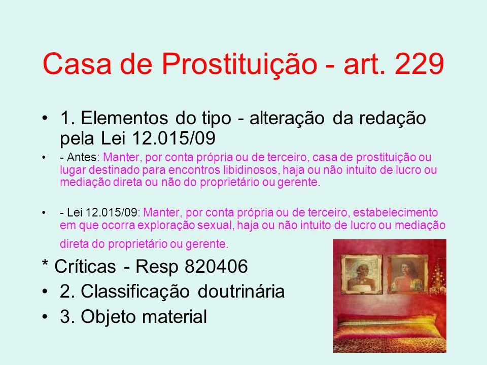 Casa de Prostituição - art. 229