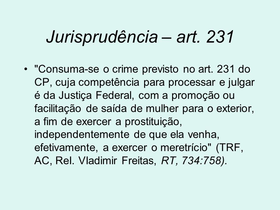 Jurisprudência – art. 231