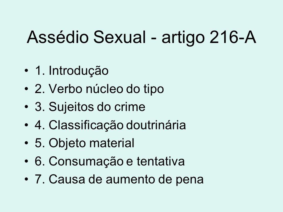 Assédio Sexual - artigo 216-A