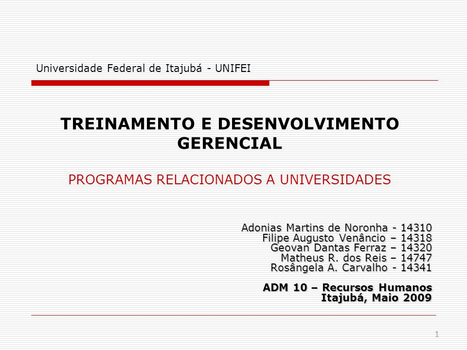 Universidade Federal de Itajubá - UNIFEI