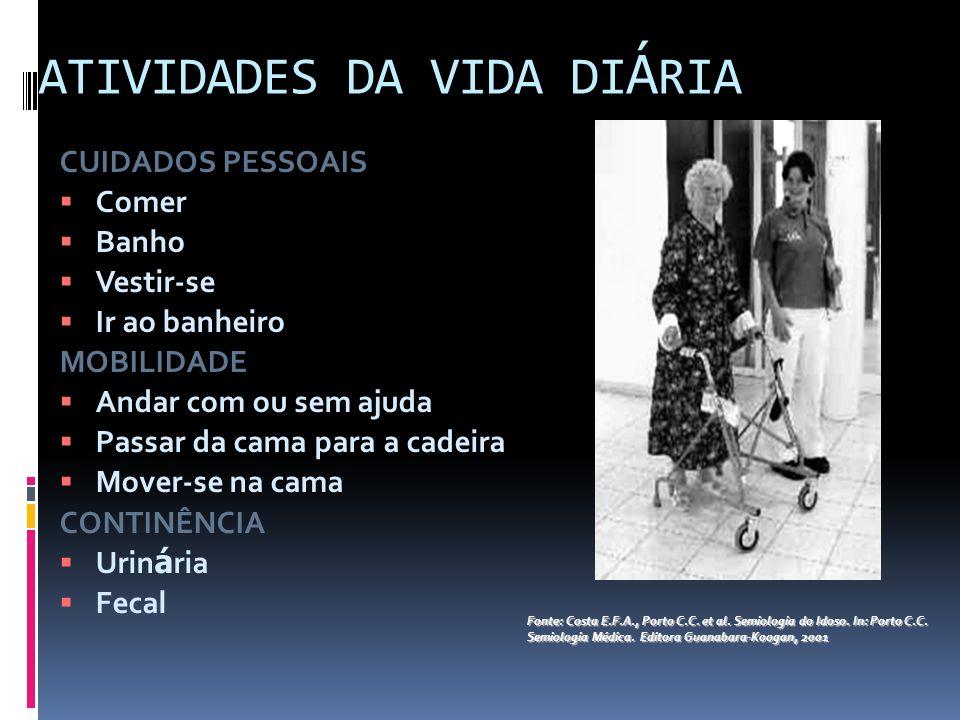 ATIVIDADES DA VIDA DIÁRIA