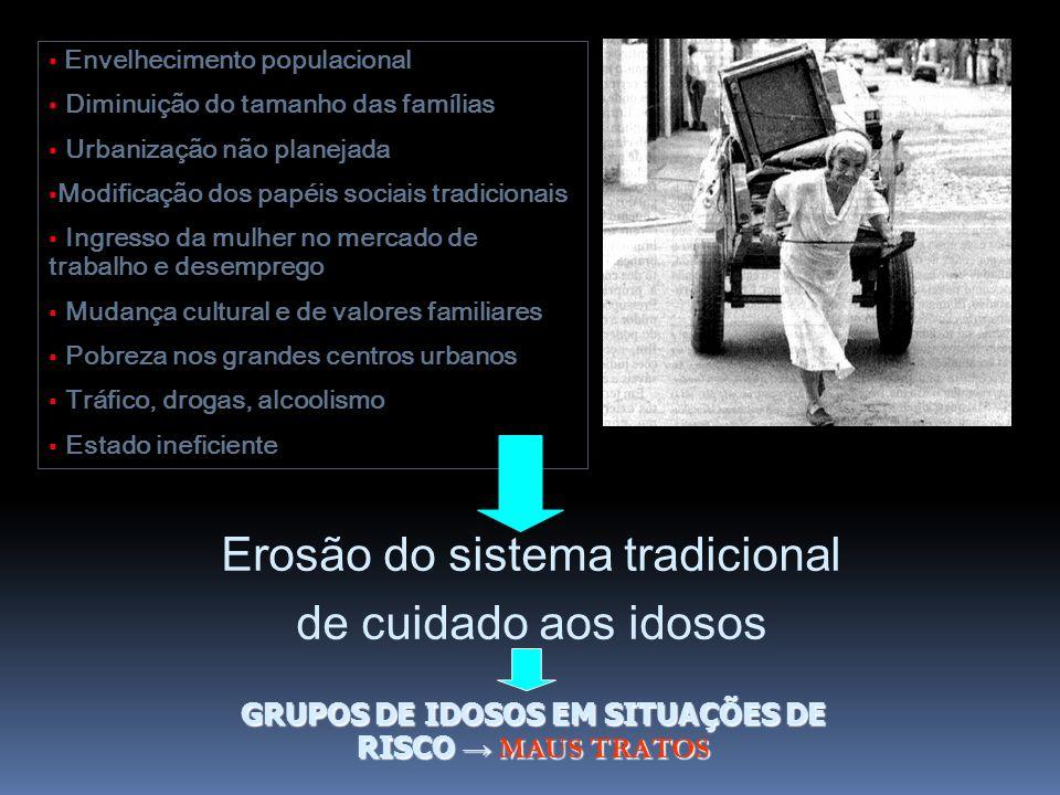 GRUPOS DE IDOSOS EM SITUAÇÕES DE RISCO → MAUS TRATOS