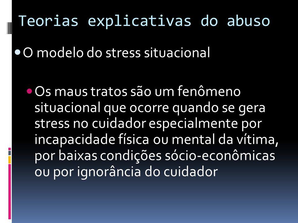 Teorias explicativas do abuso