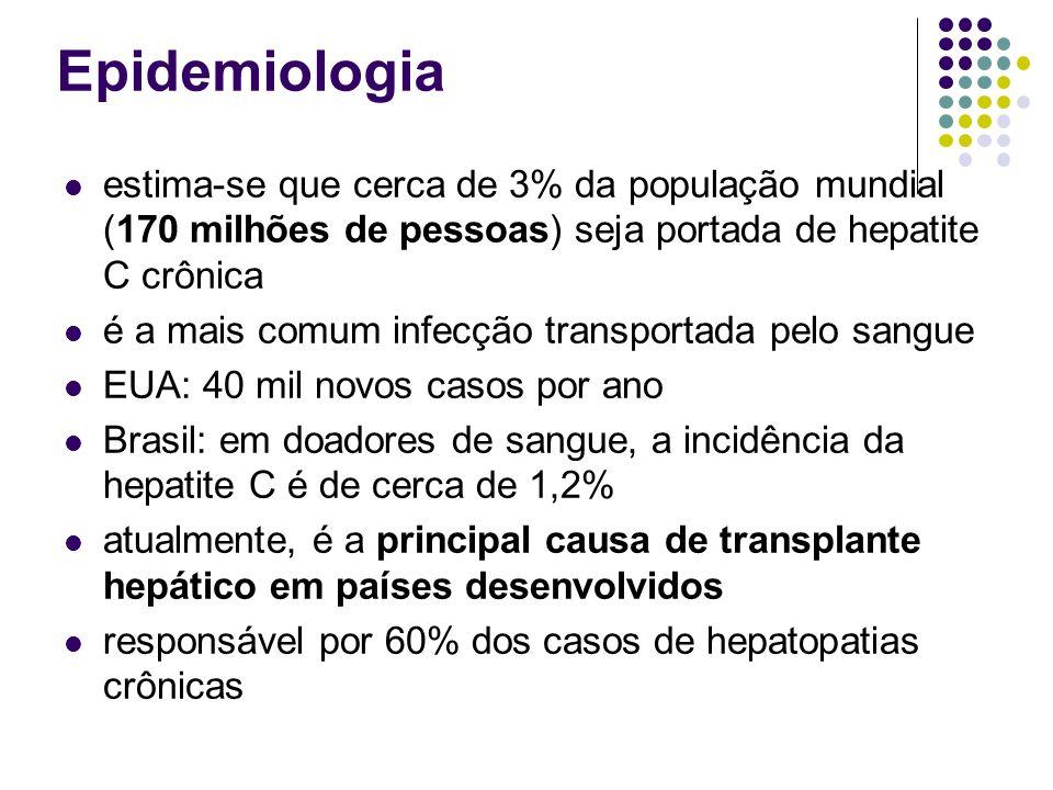 Epidemiologia estima-se que cerca de 3% da população mundial (170 milhões de pessoas) seja portada de hepatite C crônica.