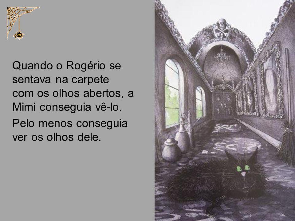 Quando o Rogério se sentava na carpete com os olhos abertos, a Mimi conseguia vê-lo.
