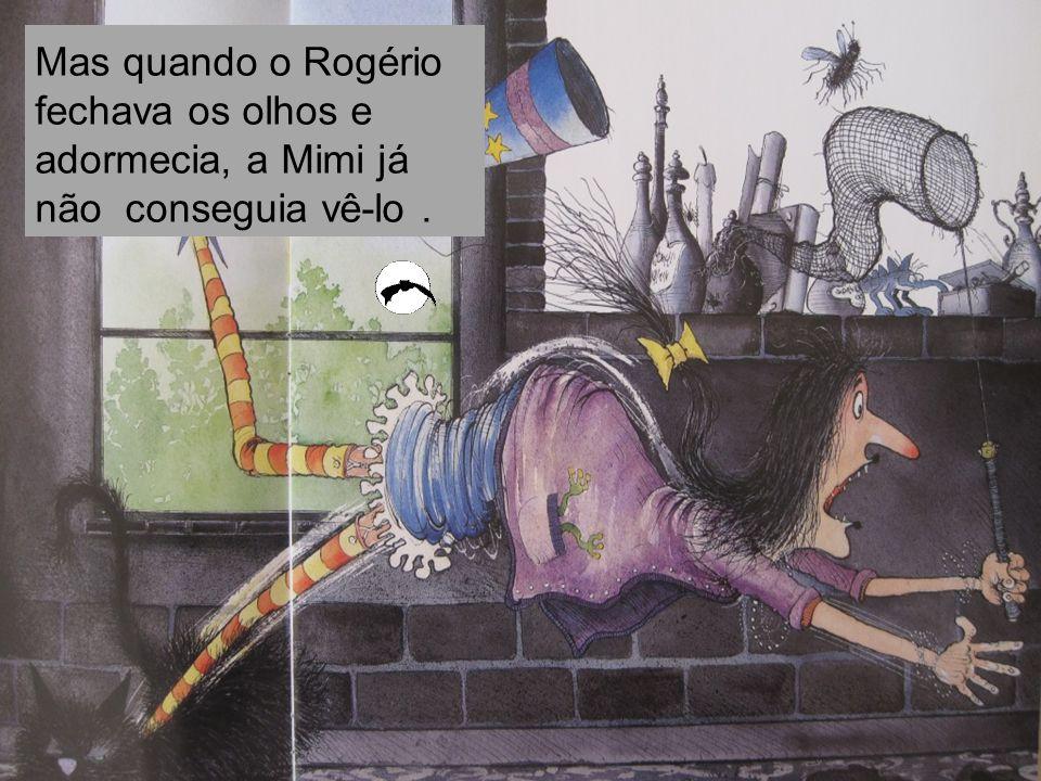 Mas quando o Rogério fechava os olhos e adormecia, a Mimi já não conseguia vê-lo .
