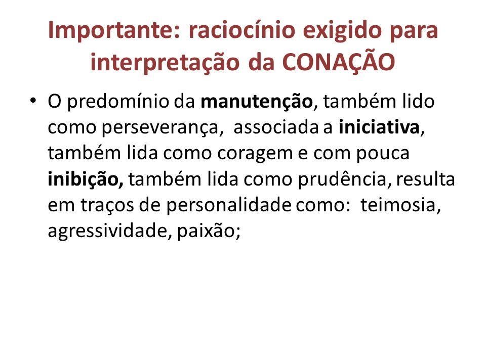 Importante: raciocínio exigido para interpretação da CONAÇÃO