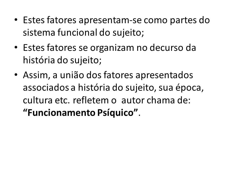 Estes fatores apresentam-se como partes do sistema funcional do sujeito;