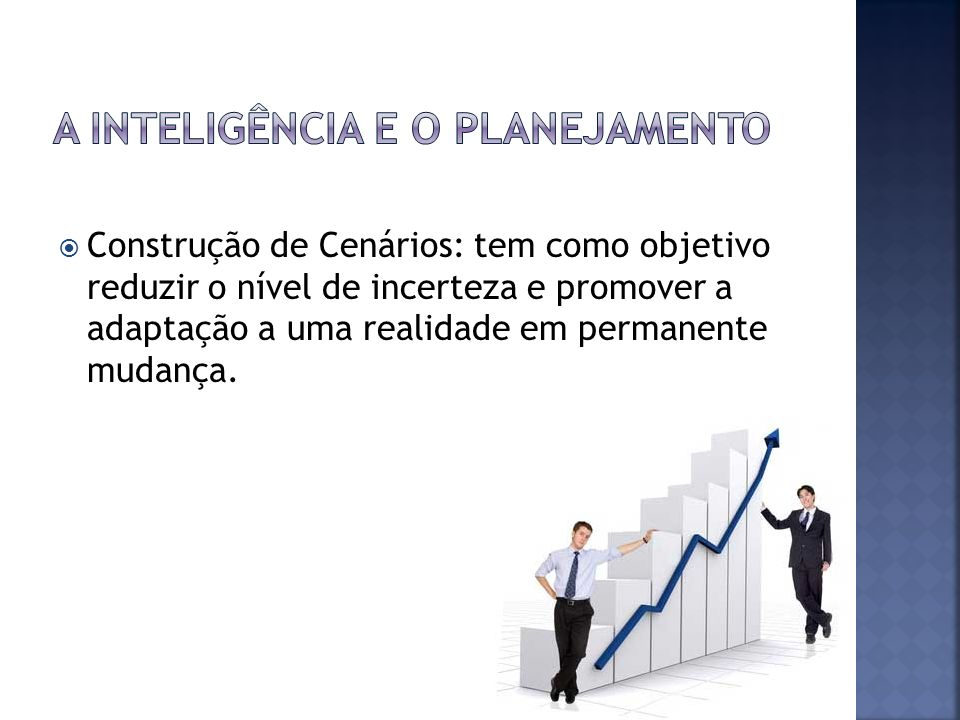 A Inteligência e o Planejamento