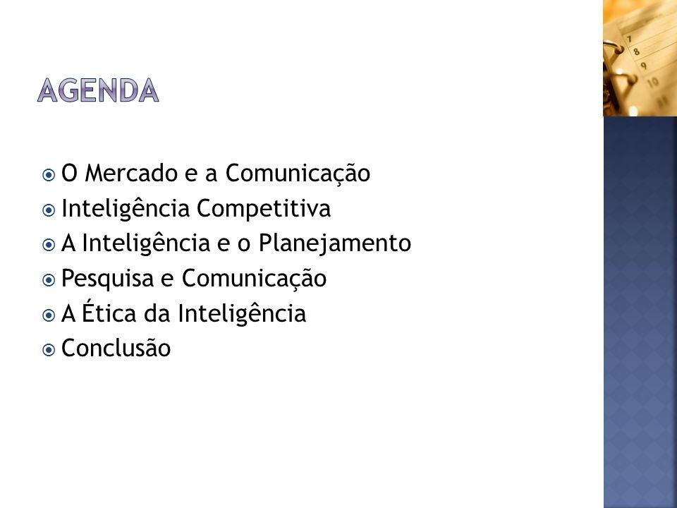 Agenda O Mercado e a Comunicação Inteligência Competitiva