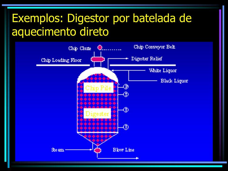 Exemplos: Digestor por batelada de aquecimento direto