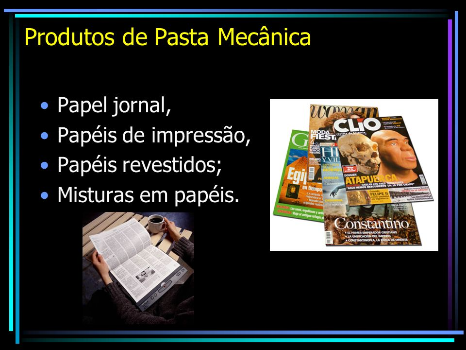 Produtos de Pasta Mecânica