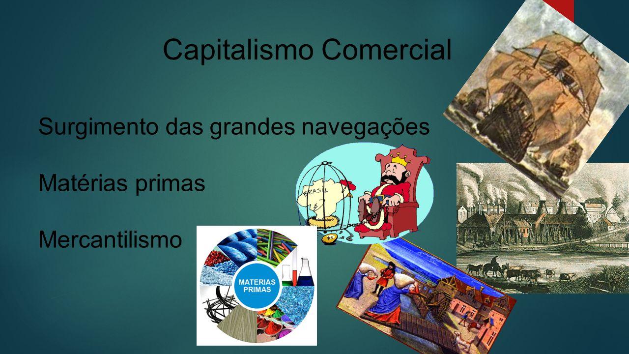 Surgimento das grandes navegações Matérias primas Mercantilismo