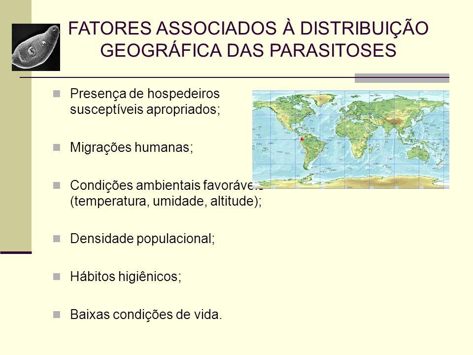 FATORES ASSOCIADOS À DISTRIBUIÇÃO GEOGRÁFICA DAS PARASITOSES