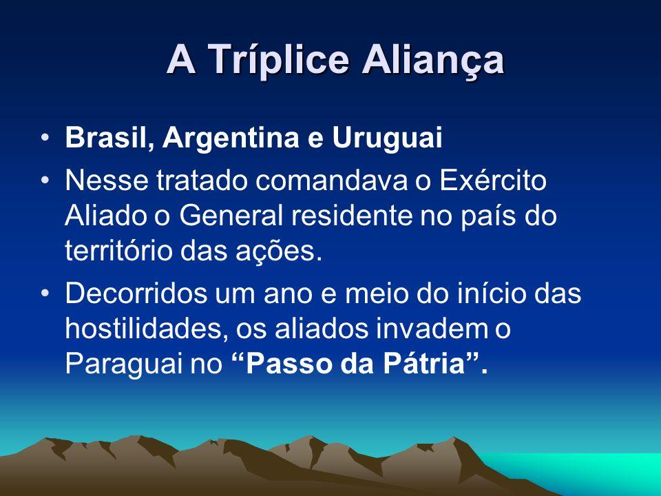 A Tríplice Aliança Brasil, Argentina e Uruguai