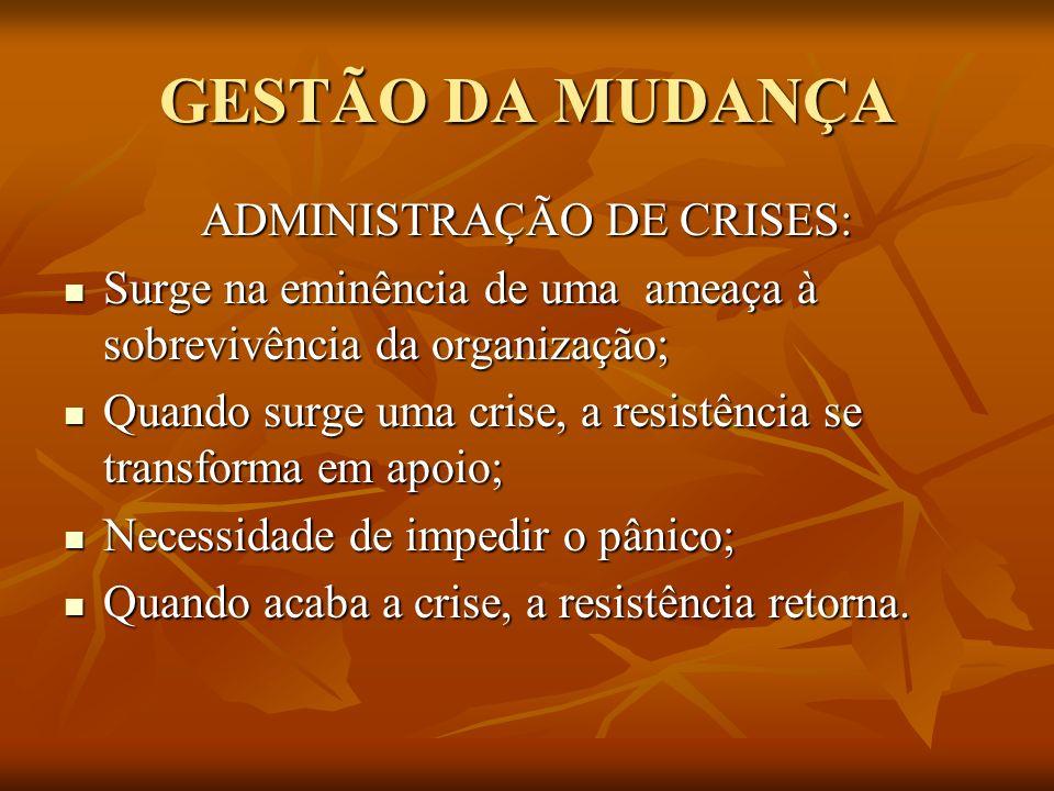 ADMINISTRAÇÃO DE CRISES: