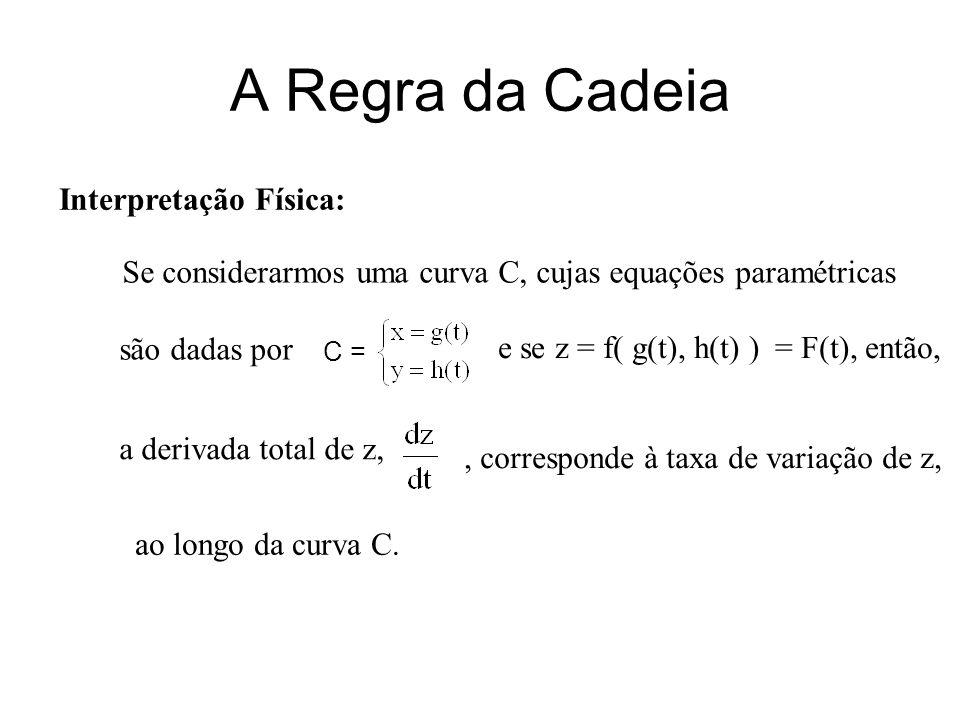 Se considerarmos uma curva C, cujas equações paramétricas