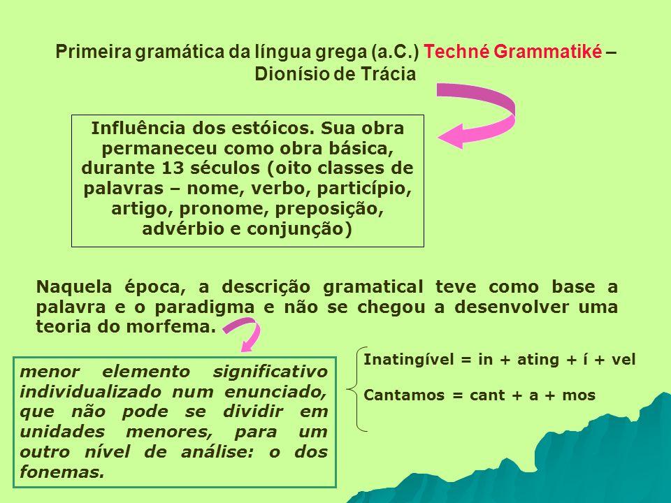 Primeira gramática da língua grega (a. C