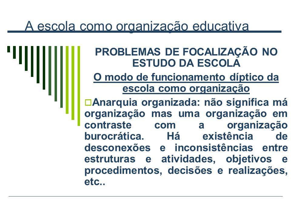 A escola como organização educativa