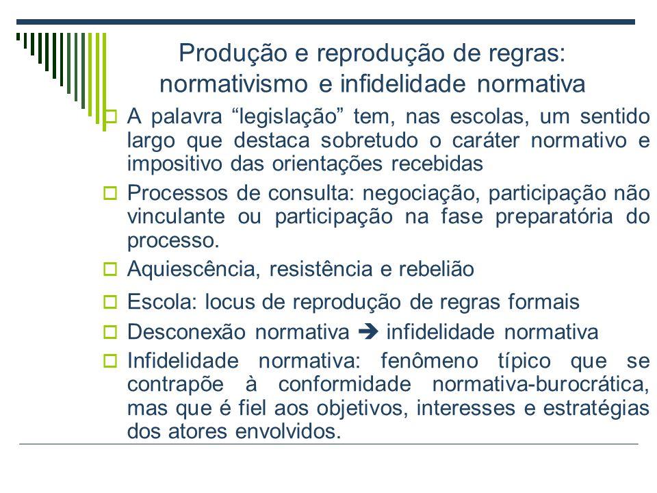 Produção e reprodução de regras: normativismo e infidelidade normativa