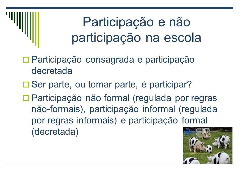Participação e não participação na escola