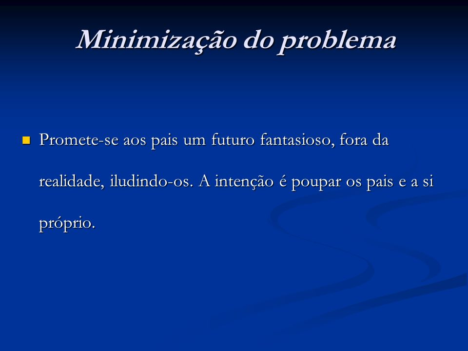 Minimização do problema
