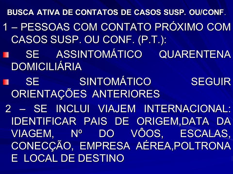 BUSCA ATIVA DE CONTATOS DE CASOS SUSP. OU/CONF.