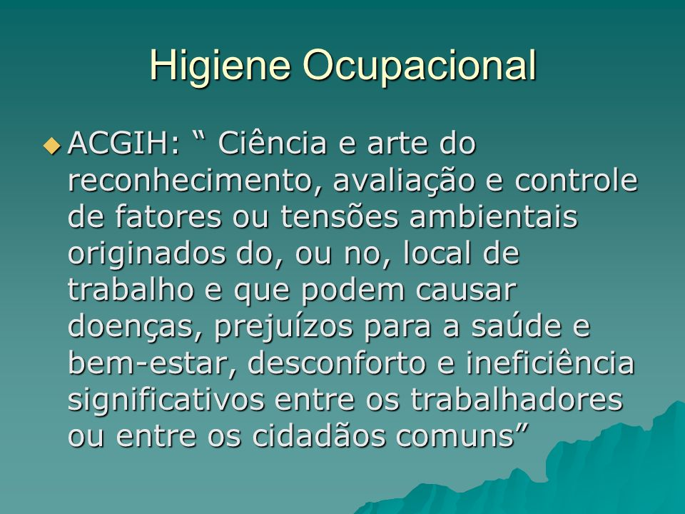 Higiene Ocupacional