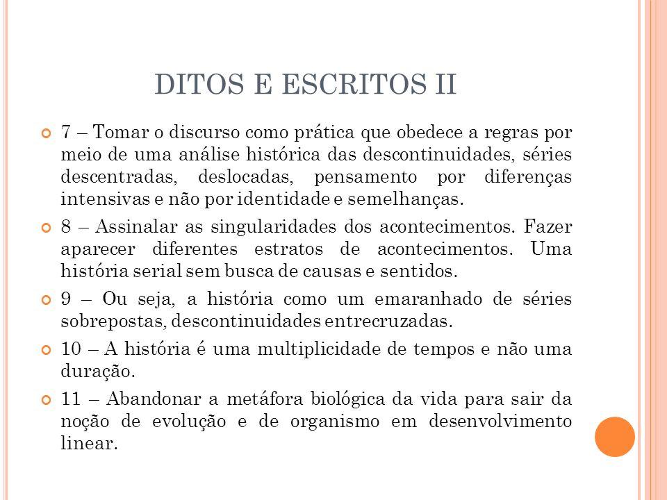 DITOS E ESCRITOS II