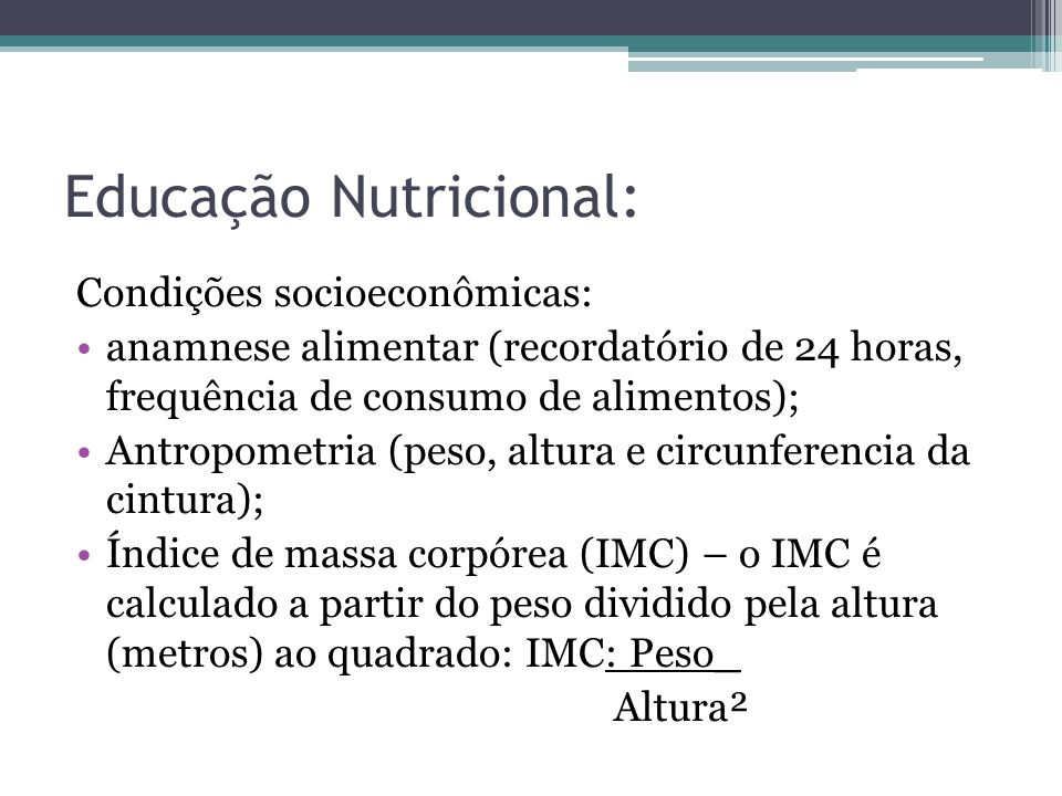 Educação Nutricional: