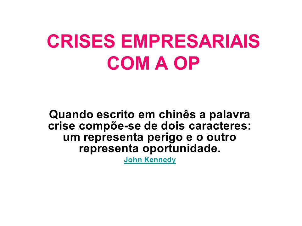 CRISES EMPRESARIAIS COM A OP