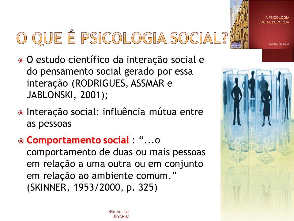 O que é psicologia social