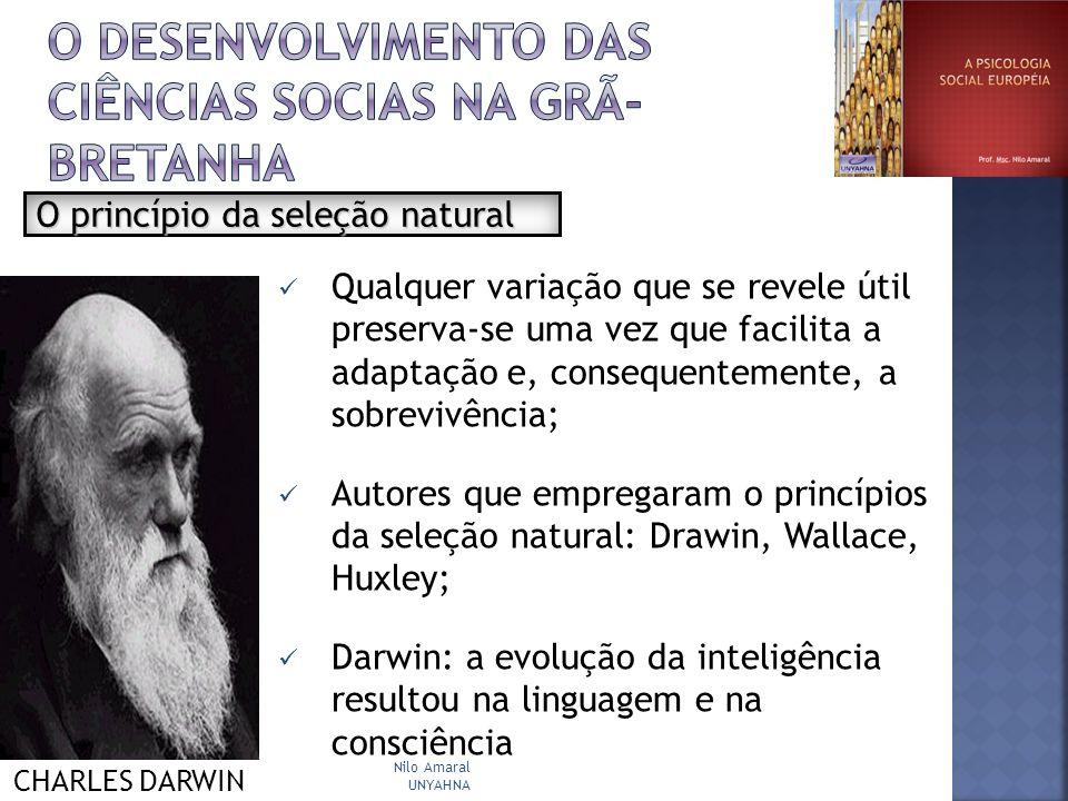 O DESENVOLVIMENTO DAS CIÊNCIAS SOCIAS NA grã-bretanha