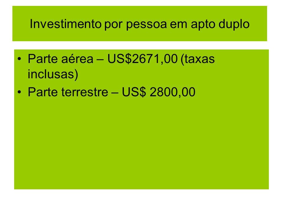 Investimento por pessoa em apto duplo