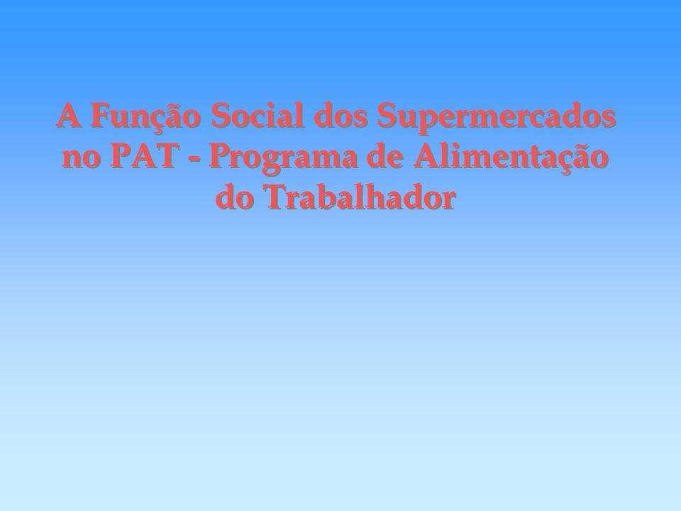 A Função Social dos Supermercados no PAT - Programa de Alimentação do Trabalhador