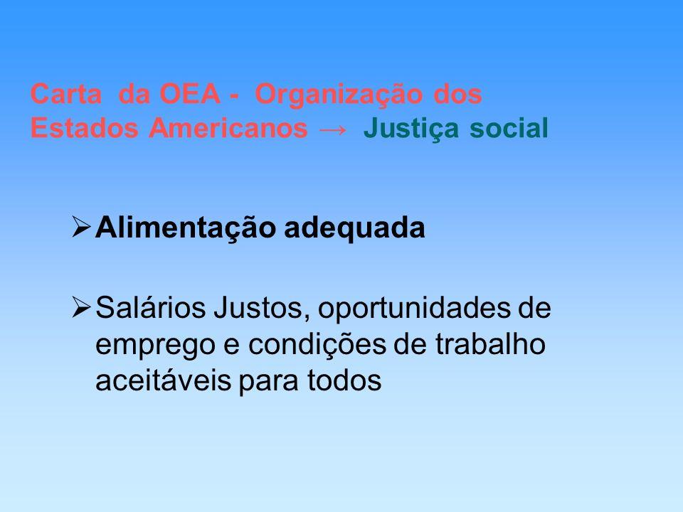 Carta da OEA - Organização dos Estados Americanos → Justiça social
